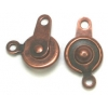 Button Clasp 7.5mm Copper